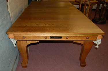 EJRiley 8ft X 4ft Solid Oak Combination Table