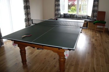 8ft solid oak combination snooker pool dining table - Snooker table dining table combination ...