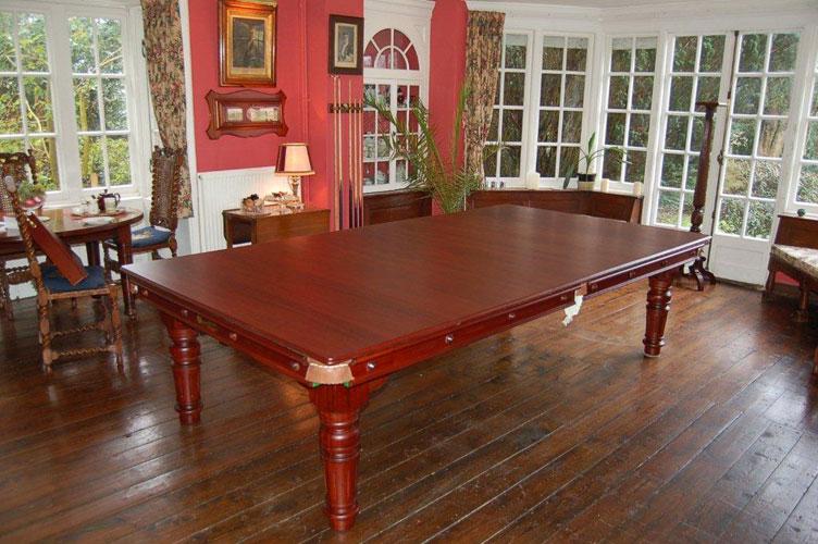 9ft mahogany combination snooker pool dining table - Snooker table dining table combination ...