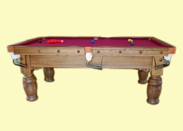 7ft heavy oak snooker table for 10ft x 5ft snooker table